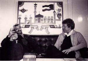 «En natt på Yasir Arafats kontor i Vest-Beirut i 1980.»