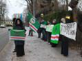 Tsjetsjenere samler seg i protest