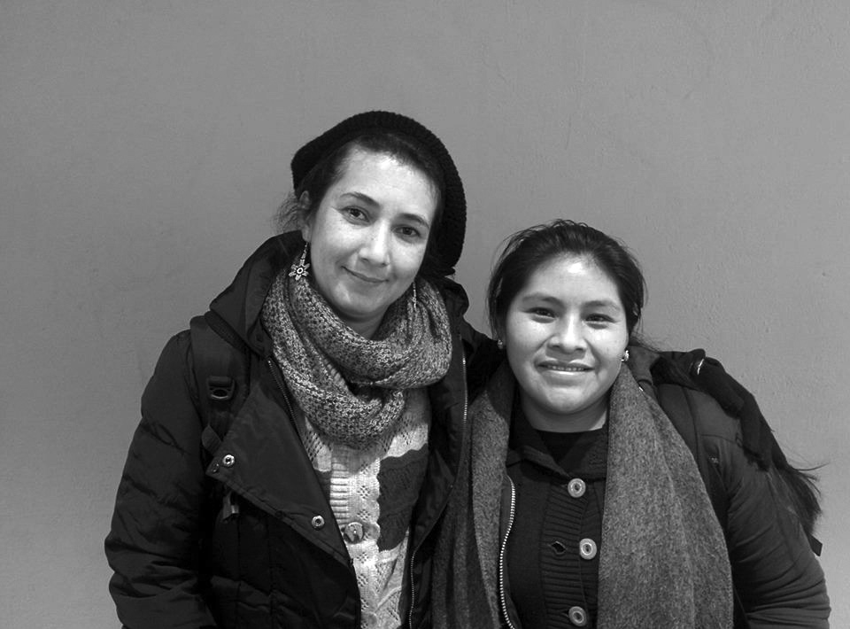 Martha Lucía Rodriguez (til venstre) ogAngélica Ortíz Sales (årets Globaliseringskonferanse, om kriminalisering av sosiale protester i Latin- Amerika. FOTO: CTH / NY TID