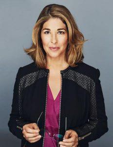 Naomi Klein, kanadisk journalist, internasjonalt kjent for boken No logo.
