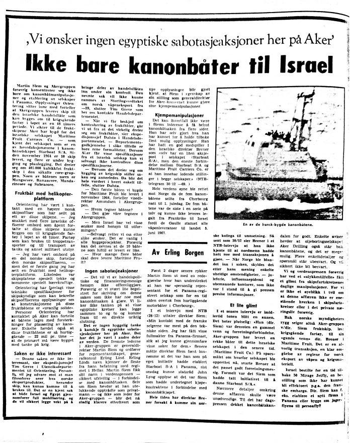 Faksimile von Orientering 10. Januar 1970
