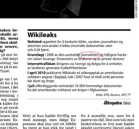 Facsímil Assange Periodista