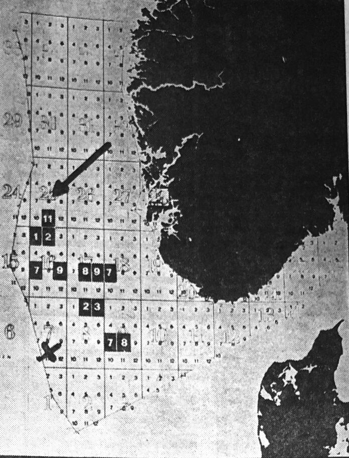 Die Karte zeigt, wo die wichtigsten Entdeckungen in der Nordsee gemacht wurden.
