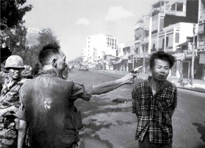 An image that helped to arouse public opinion. Saigon's Chief of Police Kills Fnl Prisoner In Open Street During Tet Offensive